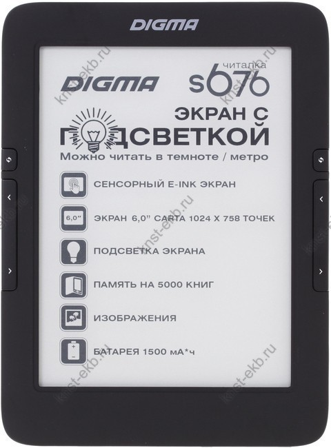 6'' Электронная книга Digma S676 ТДН-129