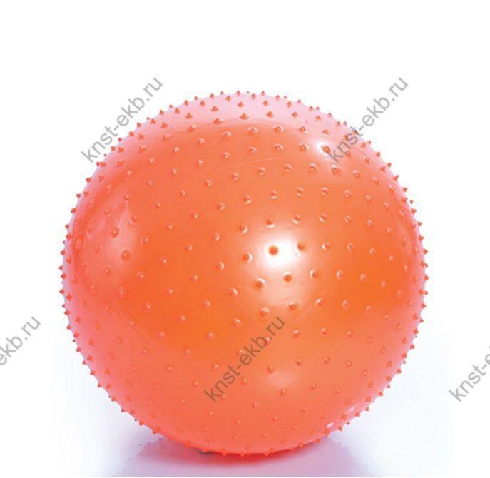 Мяч гимнастический игольчатый с насосом 75 см. оранжевый ОТС-038