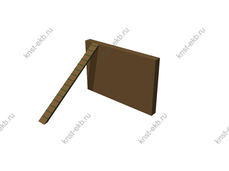 Забор с наклонной доской арт. гс-05