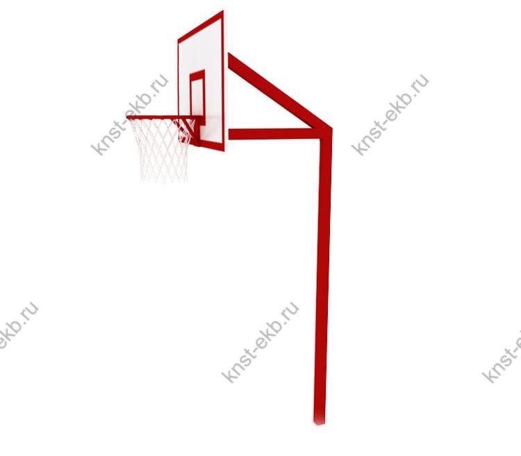 Стойка баскетбольная стационарная, вынос щита 0,5м