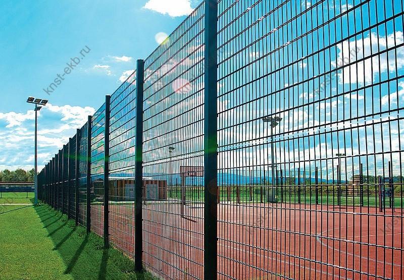Забор секционный из сетки рабицы