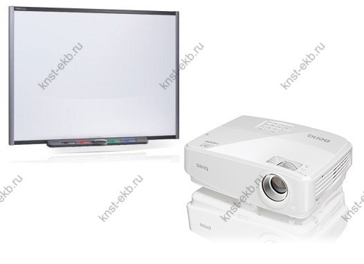 Интерактивная доска SMART SB685 (резистивная) и проектор Benq MW526E ПРТ-529