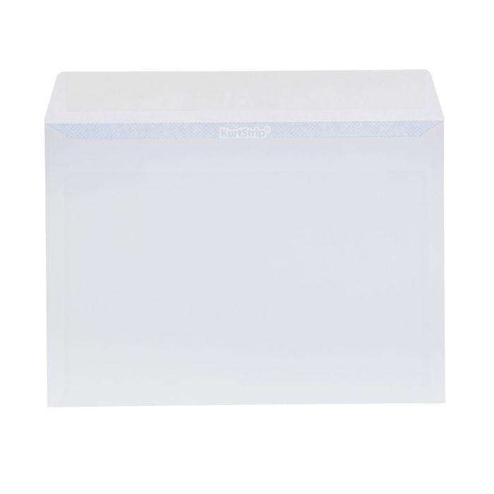 Конверт почтовый С5 162х229мм чистый, без окна, силиконовая лента, внутренняя запечатка, 80 г/м, упаковка 100шт
