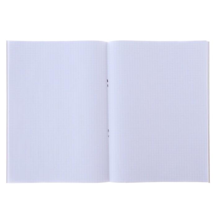 Тетрадь А4, 96 листов клетка Calligrata «Неоновый смайлик», офсет №1, белизна 100%, обложка мелованный картон