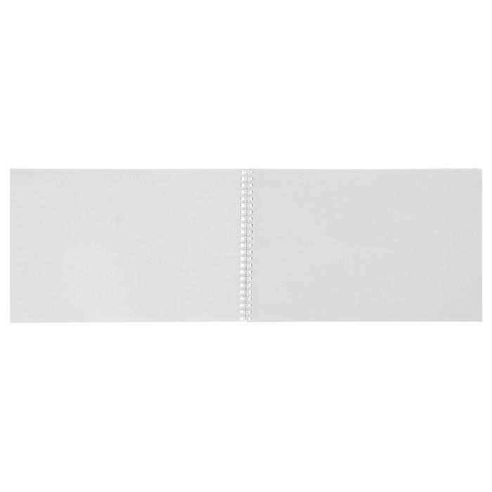 Альбом для рисования А4, 32 листа на гребне «Розовый букет» обложка картон хром-эрзац