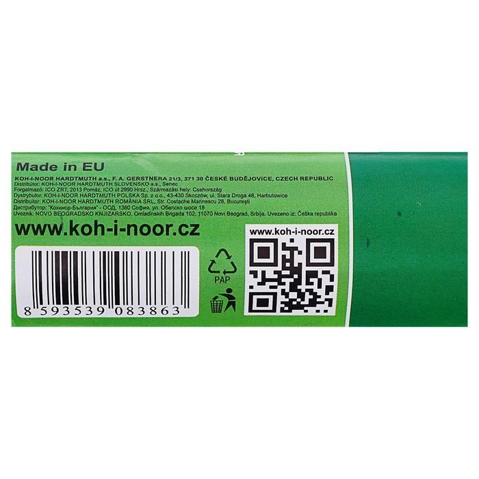 Бумага Koh-I-Noor креповая поделочная, гофро, 50 х 200 см, светло-зелёная, плотность 32 г/м2