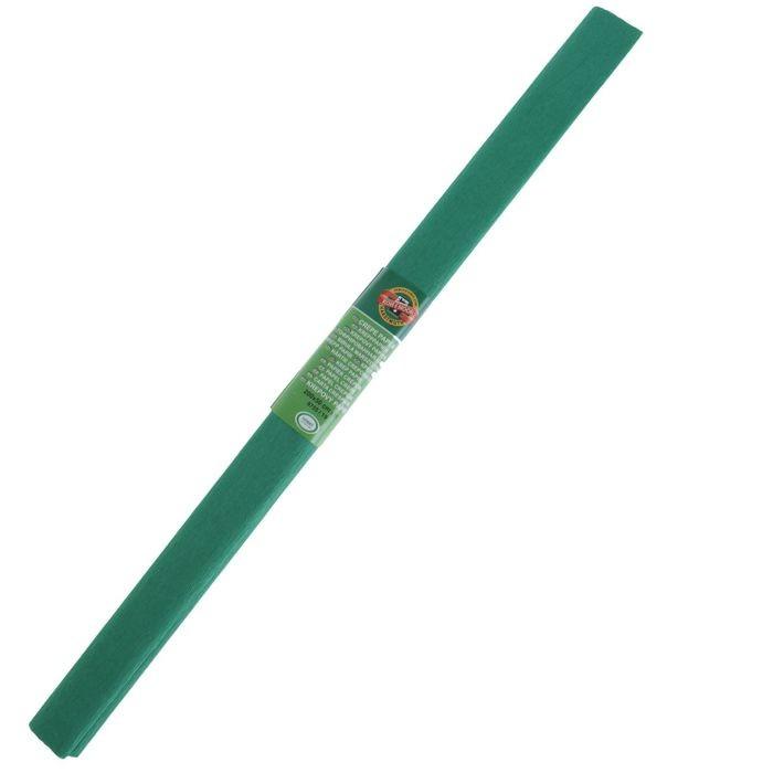 Бумага Koh-I-Noor креповая поделочная, гофро, 50 х 200 см, тёмно-зелёная, плотность 32 г/м2