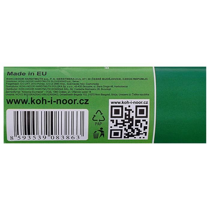 Бумага Koh-I-Noor креповая поделочная, гофро, 50 х 200 см, серая, плотность 32 г/м2