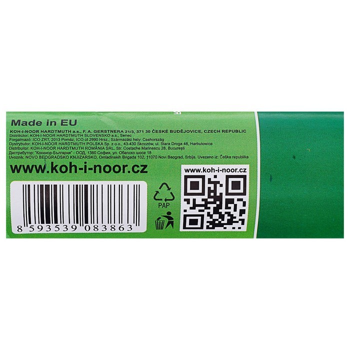 Бумага Koh-I-Noor креповая поделочная, гофро 50 х 200 см, сине-зелёная, плотность 32 г/м2