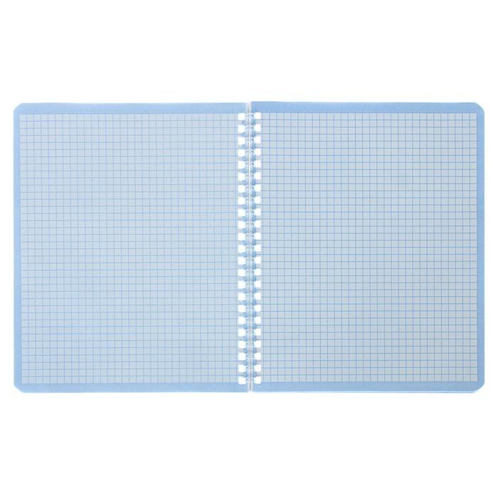 Тетрадь 48 листов клетка на гребне Multicolored, обложка мелованный картон, матовая ламинация, МИКС