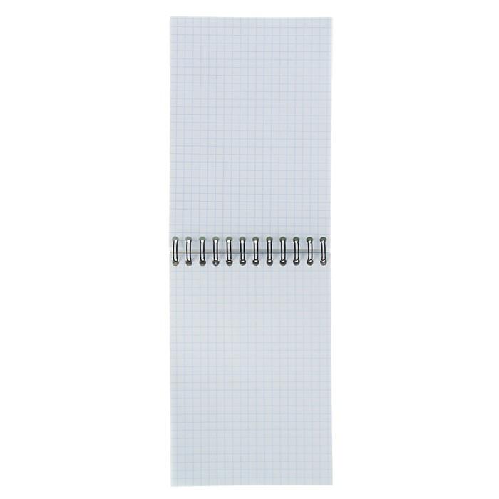 Блокнот А6, 80 листов, в клетку, на гребне, Erich Krause Duotone Next, белый внутренний блок, МИКС