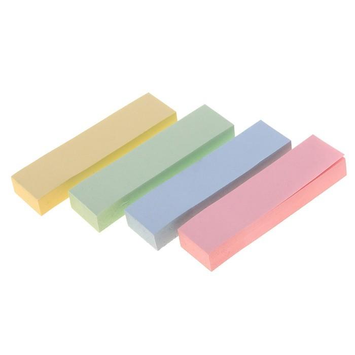 Закладки с клеевым краем, 4 цвета по 100 листов, пастель, МИКС