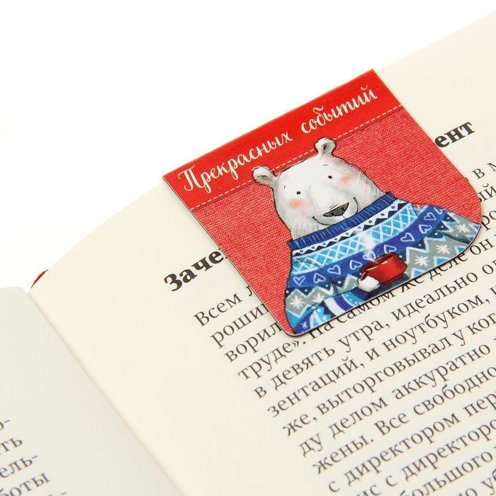 Магнитные закладки для книг в открытке