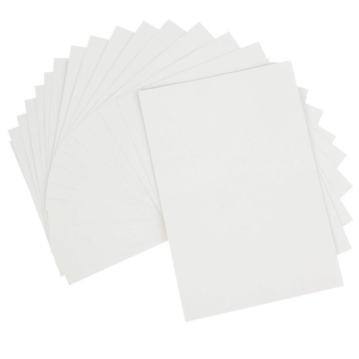 Картон белый А4, 16 листов