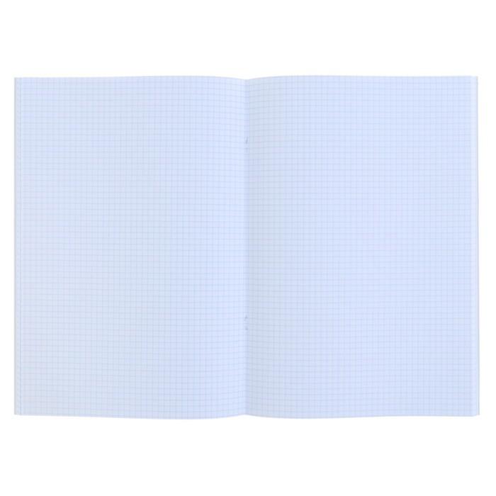 Тетрадь А4, 48 листов клетка «Серебро. METALLIC», бумвинил
