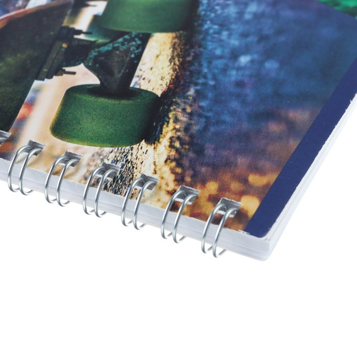 Альбом для рисования А4, 32 листа на гребне World boy, обложка мелованный картон, МИКС