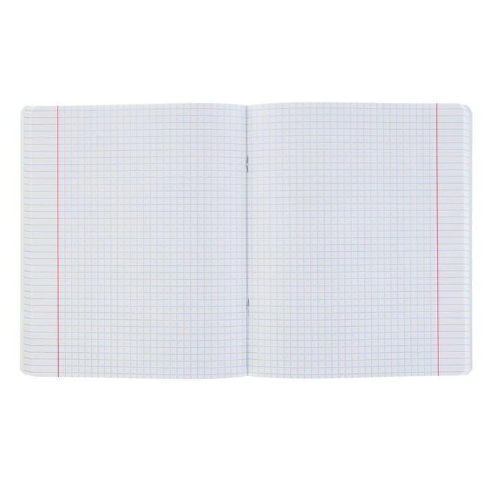 Тетрадь 96 листов, в клетку MC-7, картонная обложка, микс
