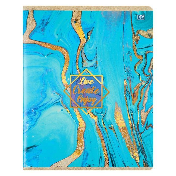Тетрадь 96 листов клетка Texture, обложка мелованный картон, тиснение фольгой, МИКС
