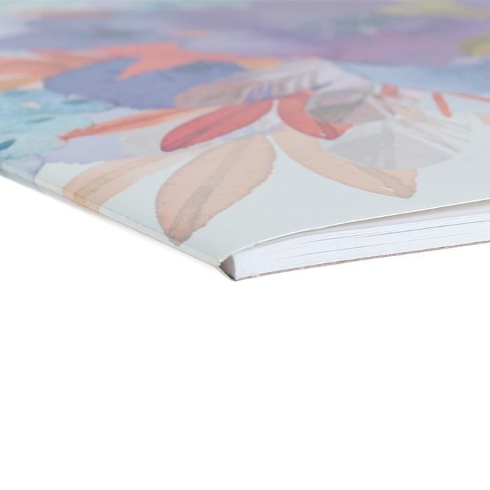 Альбом для рисования А4, 20 листов, на клею, Erich Krause «Нежный букет», блок 120 г/м2, обложка мелованный картон 170 г/м2, жёсткая подложка 360 г/м2, белизна 100%