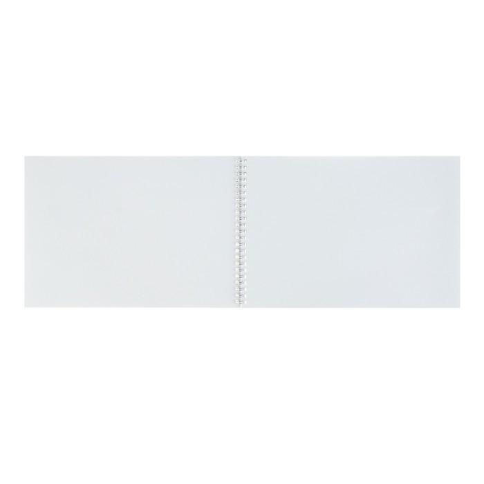 Альбом для рисования А4, 40 листов на гребне «Синий спорткар»