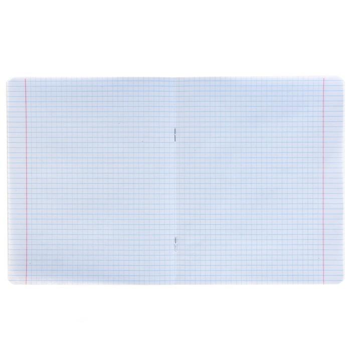 Тетрадь 48 листов клетка «Северное сияние», обложка мелованный картон, тиснение фольгой, выборочный твин-лак, конгрев
