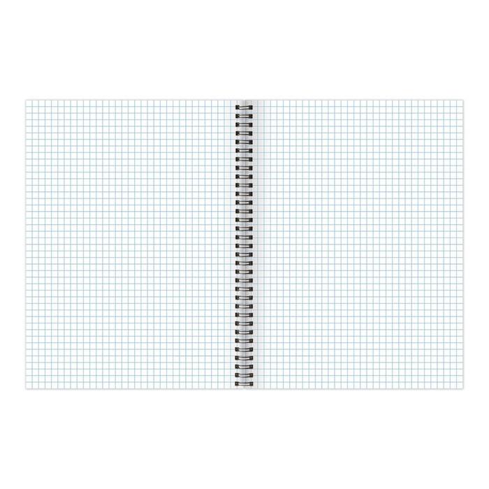 Тетрадь 96 листов в клетку, на гребне, BRAUBERG «Индей», обложка картон + лак, микс