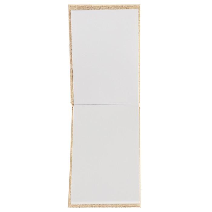 Блокнот 95х65 мм, 100 листов на клею «Паутинка золотая», обложка балакрон