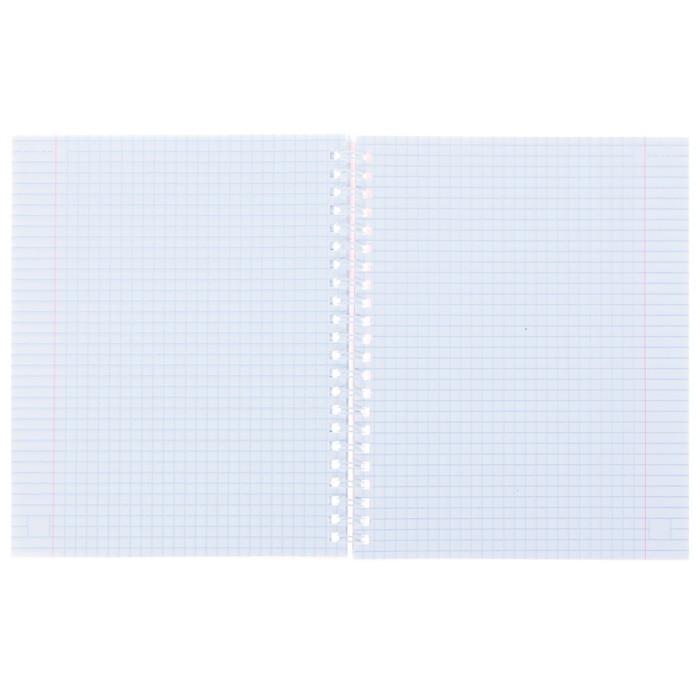 Тетрадь 96 листов клетка на гребне «FRESH. Сердечки», картонная обложка, МИКС