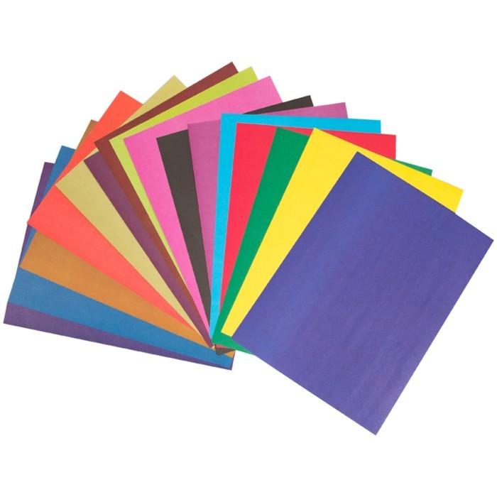 Бумага цветная двухсторонняя A4, 16 листов, 16 цветов Мульти-Пульти, в папке, плотность 65 г/м2