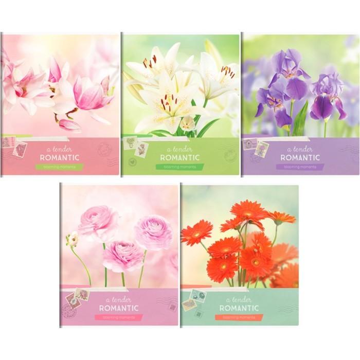 Тетрадь А5, 80 листов линейка ArtSpace «Цветы». Blooming moments