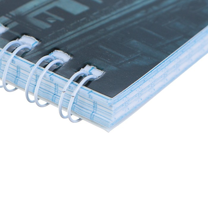 Тетрадь 80 листов клетка на гребне «Города», обложка мелованный картон, глянцевая ламинация, МИКС