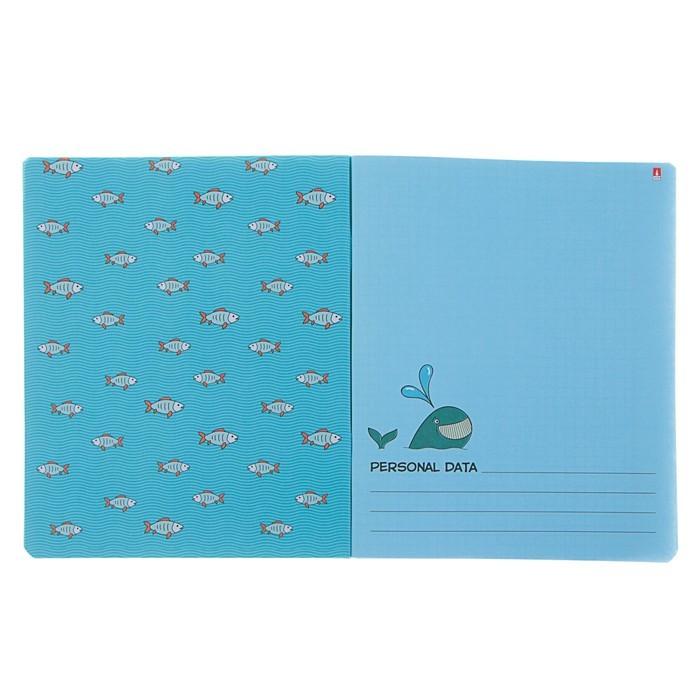 Тетрадь 48 листов клетка «Приключения пингвинов», обложка мелованный картон, УФ-лак, фольгирование, конгрев, МИКС