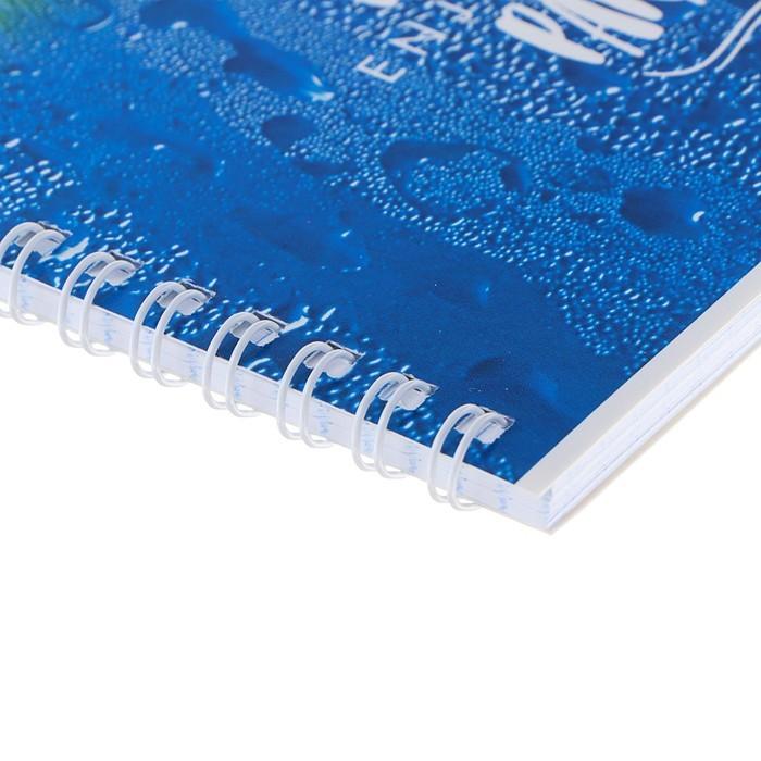 Тетрадь 60 листов клетка на гребне Enjoy summer, обложка мелованный картон, МИКС