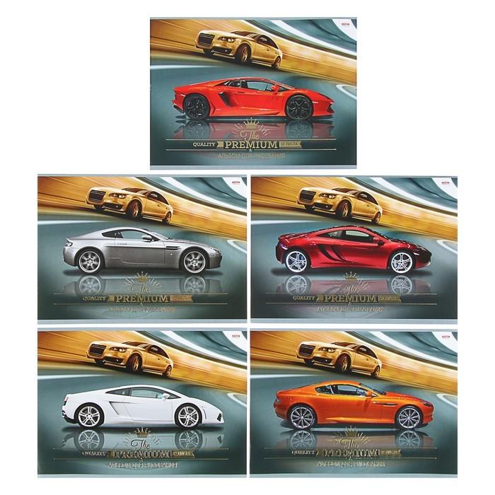 Альбом для рисования А4, 32 листа «Авто и движение» офсет, 5 видов, МИКС