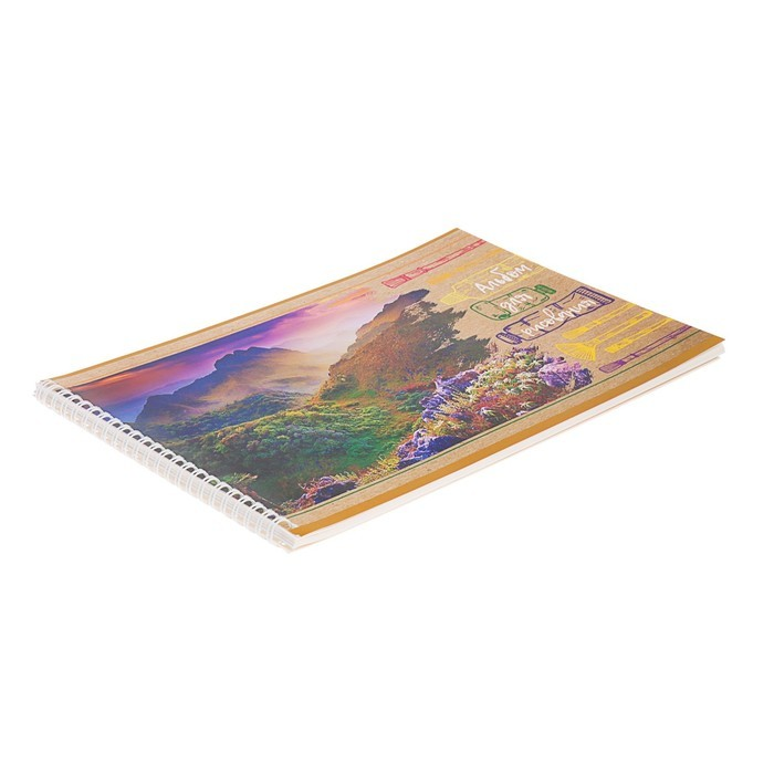 Альбом для рисования А4, 40 листов на гребне Amazing view, обложка мелованный картон, МИКС