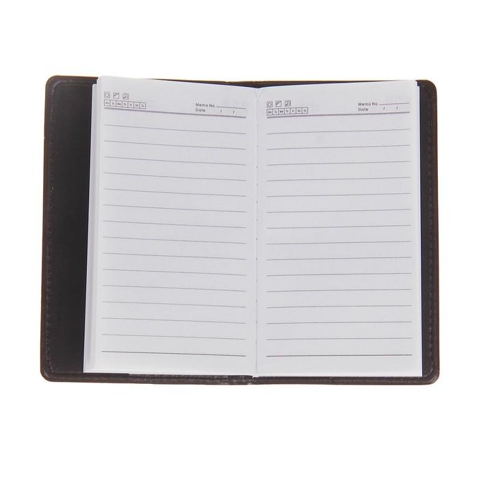 Записная книжка А6, 72 листа в линейку, обложка ПВХ, комбинированная коричневая