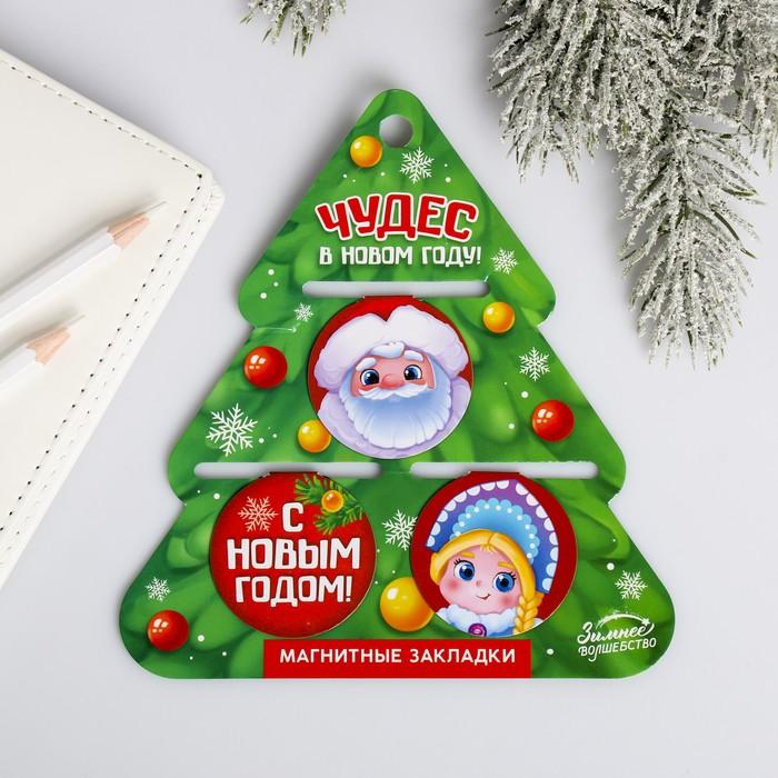 Набор магнитных закладок «Дед Мороз»
