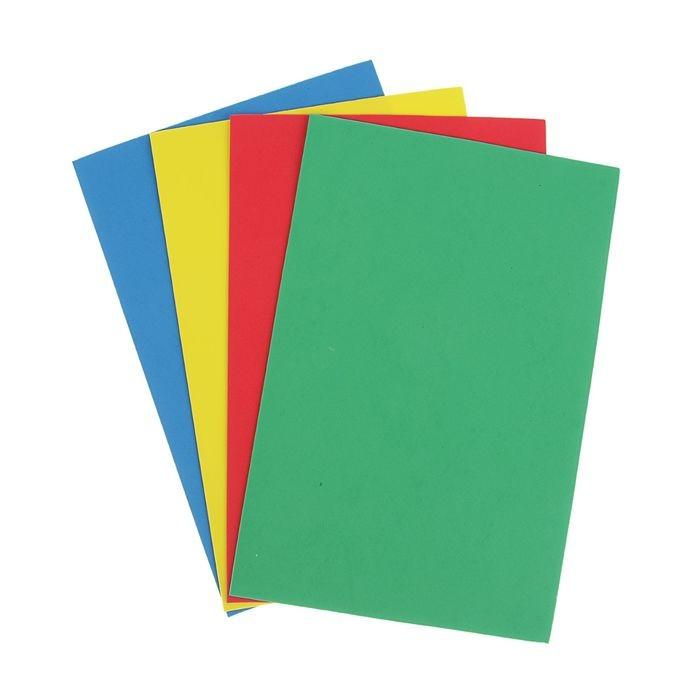 Набор мягкого пластика EVA А4, 4 листа, 4 цвета Creative