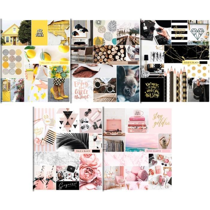 Тетрадь А5, 96 листов клетка ArtSpace «Стиль. Выбери свой цвет»