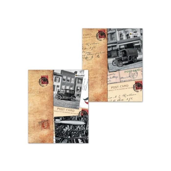 Тетрадь 96 листов в клетку, BRAUBERG ЭКО «Страны», обложка мелованный картон, микс