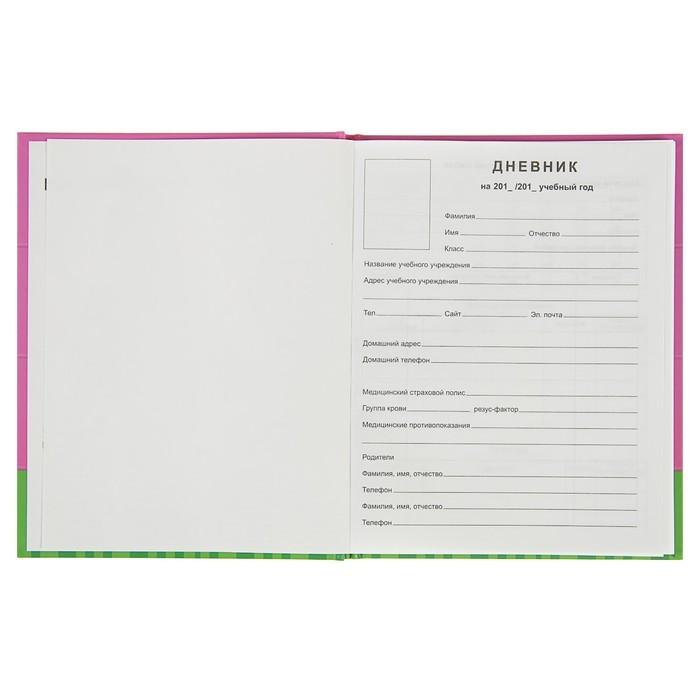 Дневник для 5-11 классов Cactus, твёрдая обложка, матовая ламинация, тиснение фольгой, 48 листов