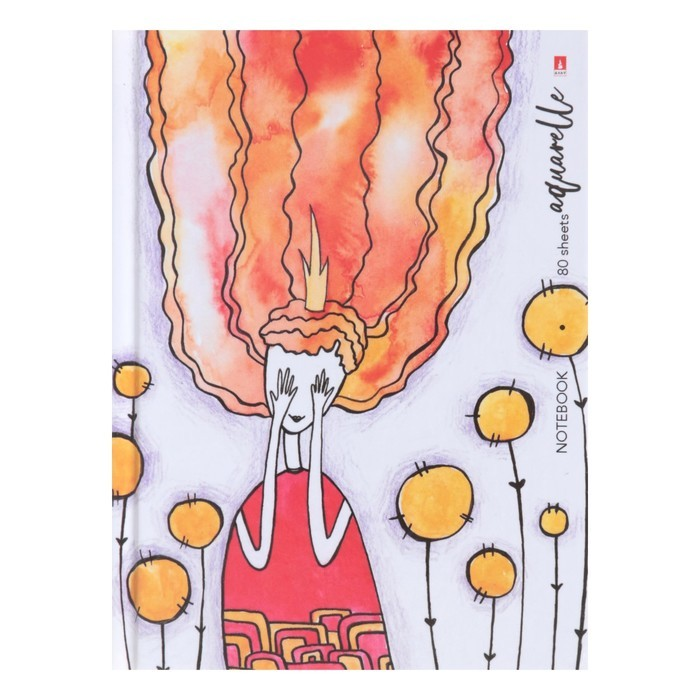 Блокнот А6, 80 листов «Акварельные сны», твёрдая обложка, глянцевая ламинация