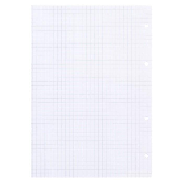 Сменный блок для тетрадей на кольцах А5, 80 листов в клетку, белый, Erich Krause