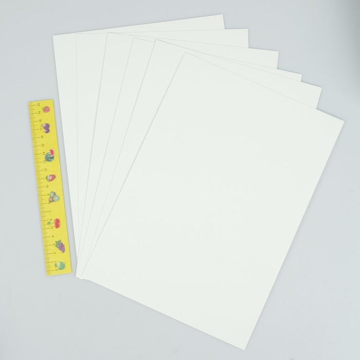 Картон белый А4, 6 листов
