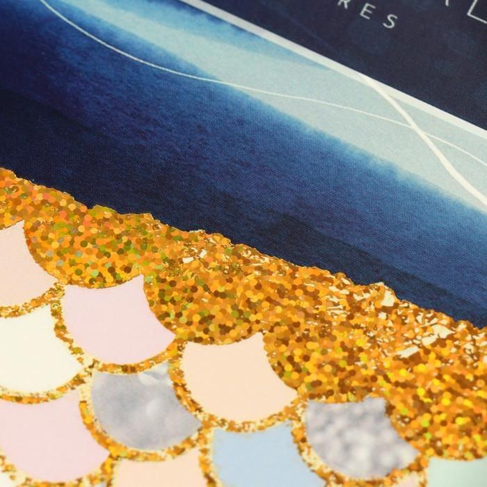 Тетрадь А5, 80 листов клетка Posh item, обложка мелованный картон, тиснение голографической фольгой, 4 вида МИКС