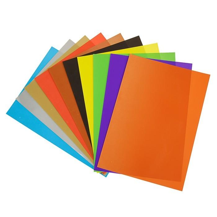 Бумага цветная В5, 10 листoв, 10 цветов Erich Krause Artberry, мелованная, плотность 80 г/м2