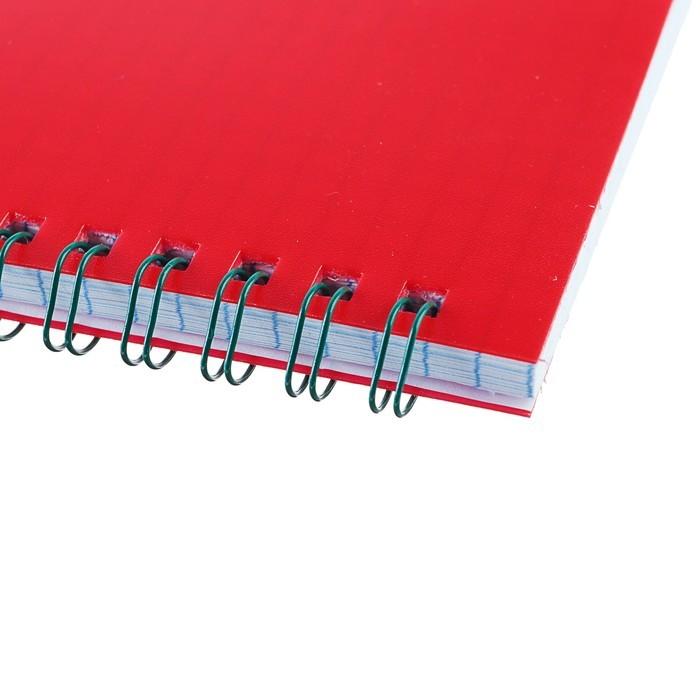 Блокнот А5, 60 листов на гребне «Красный», пластиковая обложка