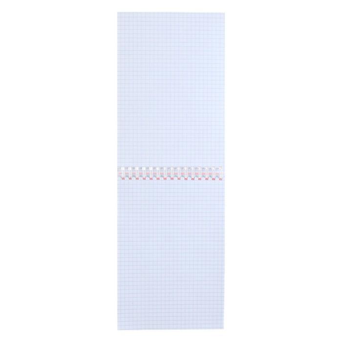 Блокнот А5, 100 листов клетка на гребне «Клубничка», обложка мелованный картон, ВД-лак, 60 г/м?