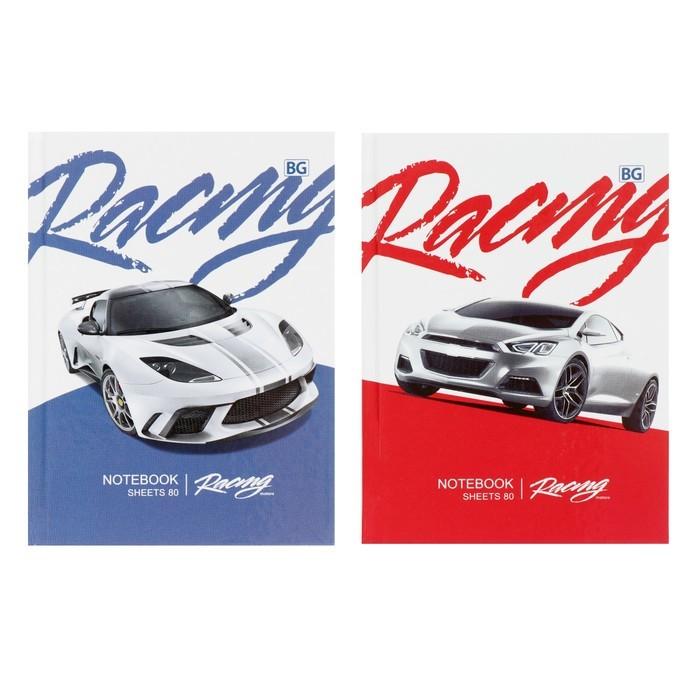 Бизнес-блокнот А6, 80 листов Racing, твёрдая обложка, глянцевая ламинация, 2 вида МИКС