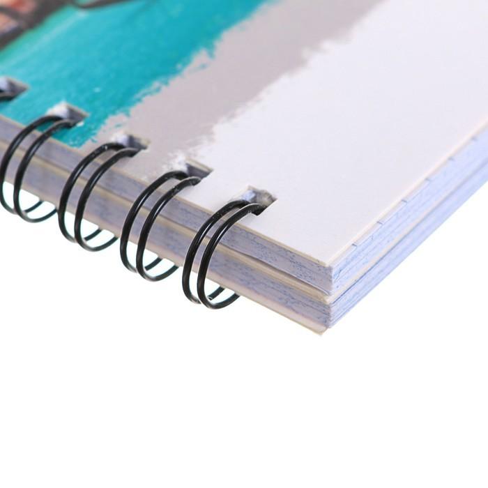 Тетрадь двойная 96 листов клетка на гребне, блок офсет №1, цв/карт УФ-лак, МИКС
